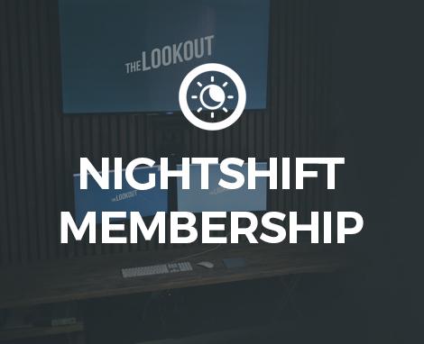 Nightshift Membership Lookout DC Creative Co-working