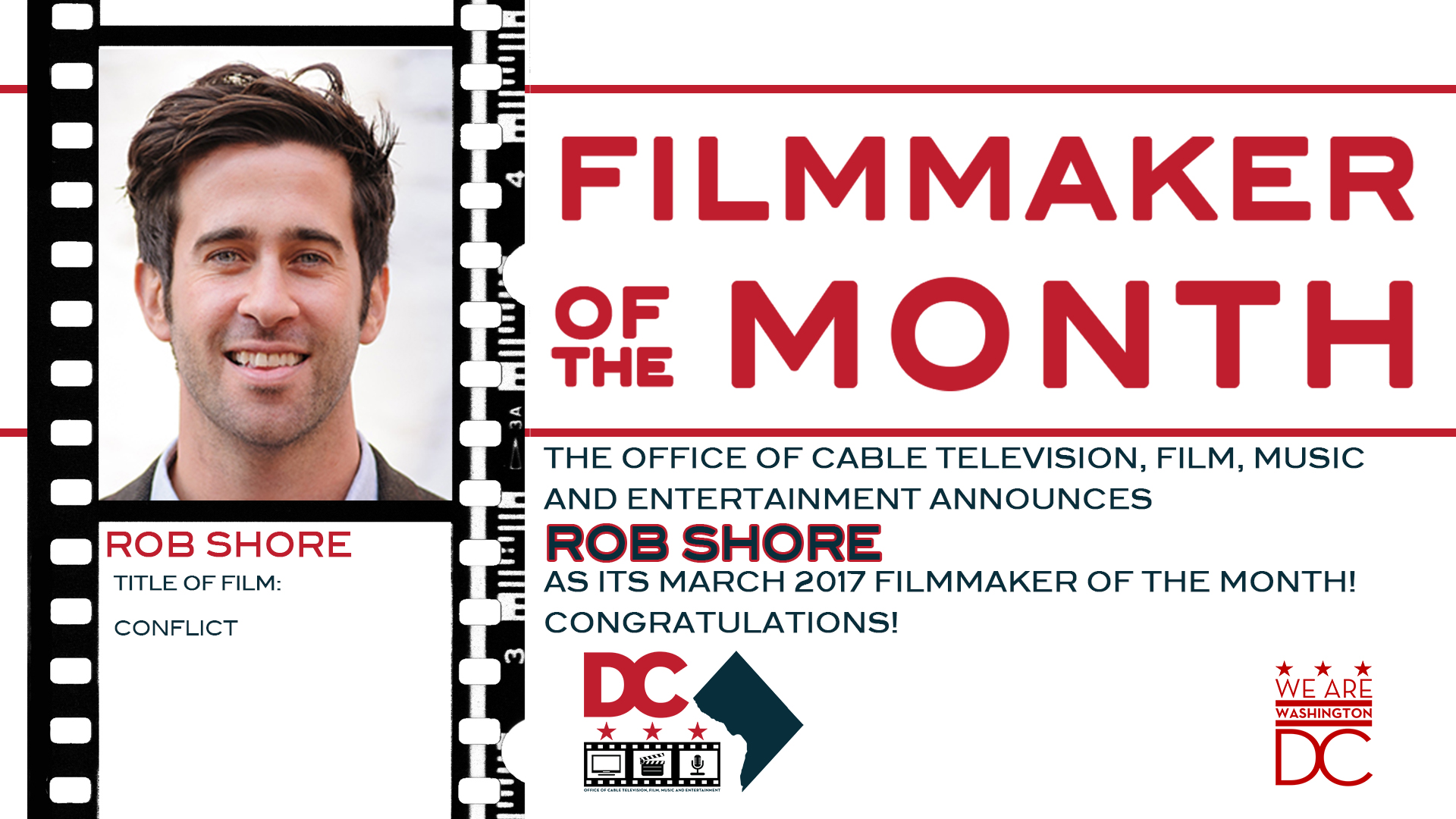 Rob Shore Filmmaker Of The Month OCTFME